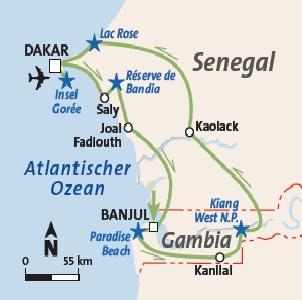 Gambia Rundreise und Baden