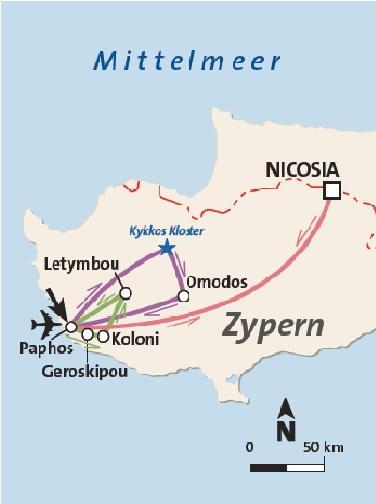 Zypern Rundreise und Baden