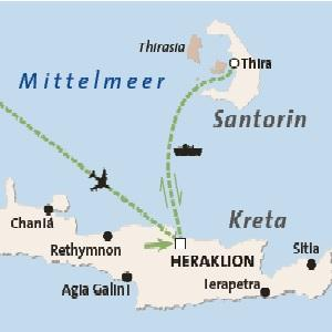 Rundreise Inselkombination Kreta - Santorin