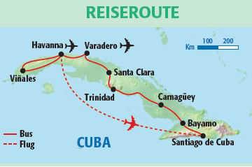 Karte Kuba Varadero.Kombireise Hotel Blau Varadero Und Große Cuba Rundreise