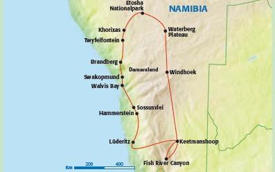 Namibia Rundreise und Baden