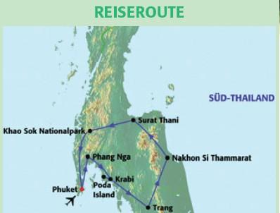 Thailand Rundreise und Baden